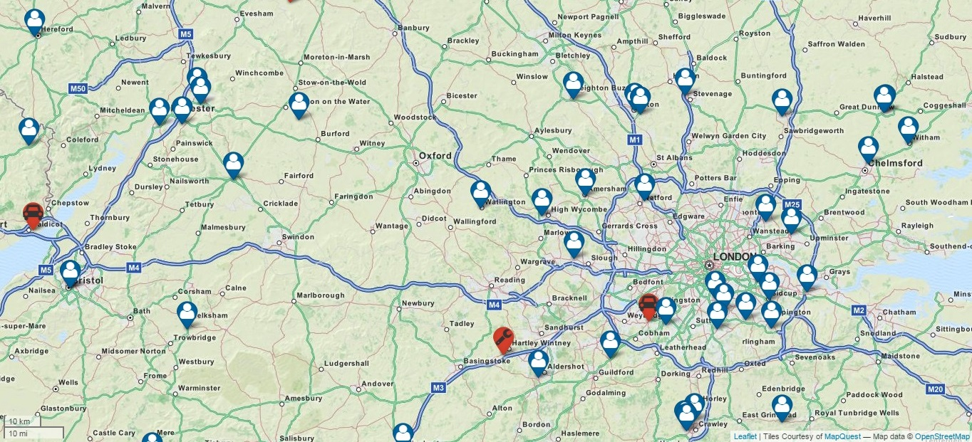 Interactive Map - See where other members are located along with your nearest events and VR6 Specialist.